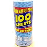 ARTC All Purpose Reusable Huge Value Pack 100 Sheets Heavy Duty Wipes 250mm x 300mm