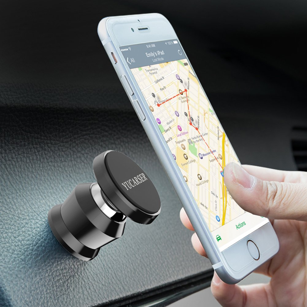 Magnetic Car Mount Holder with Super Strong Magnet, Cell Phone Holder for Car, Dashboard Mount for iPhone X/ 8/ 8 Plus/ 7/ 7 Plus/ 6 / Pixel 2/ Galaxy S8/ S7/ S6/ Light Tablets and more