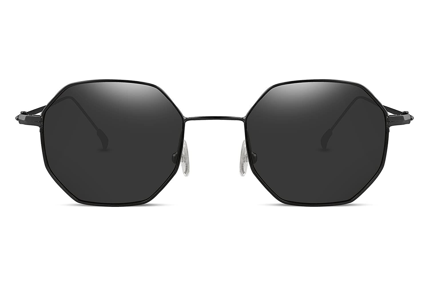 36bcead1dda Amazon.com  FEISEDY Hipster Polygon Sunglasses Small Metal Frame Delicate  Temple Women B2254  Clothing