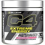 Cellucor C4 Extreme Energy Pre Workout Powder Energy Drink with Caffeine, Creatine, Nitric Oxide & Beta Alanine, Strawberry Kiwi, 30 Servings