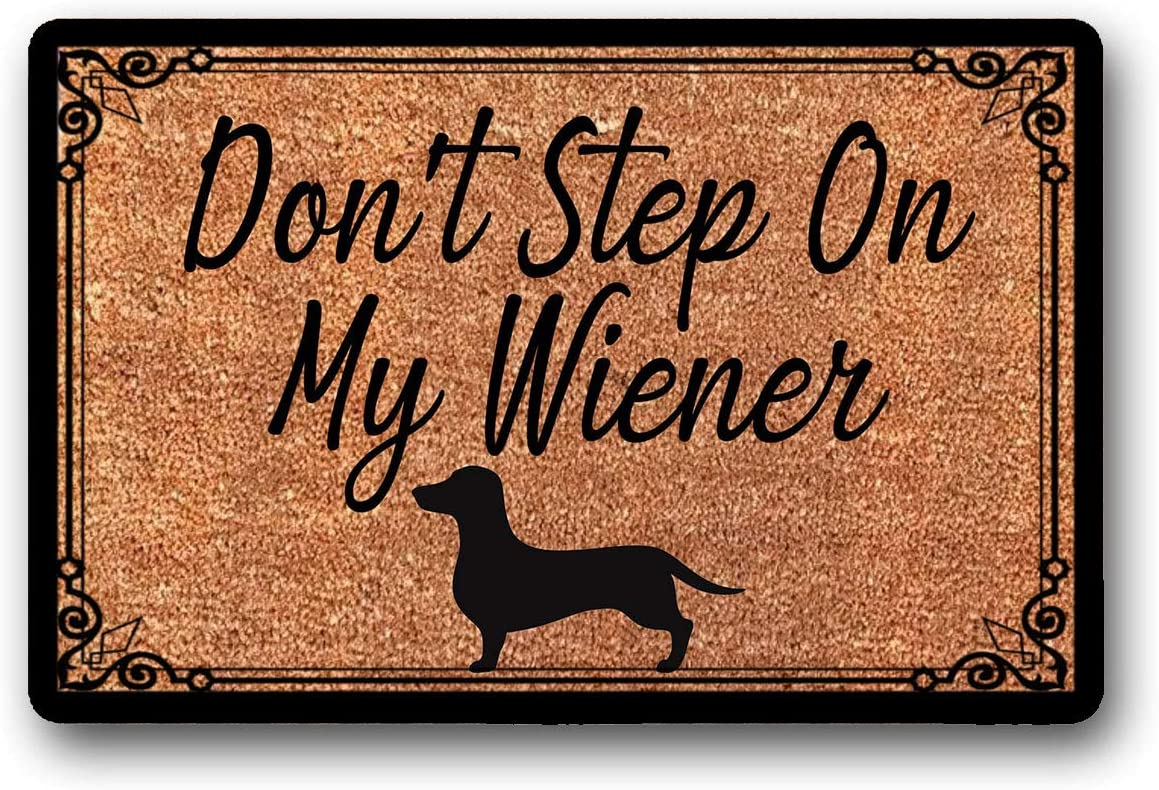 LSS Trading Don t Step On My Wiener Welcome Mat – Coir Door Mat – Dachshund Doormat 18 x 30
