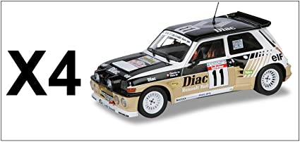 Générique Set of 4 Cars Renault 5 Maxi Turbo Rally 1986 1/18 Solido