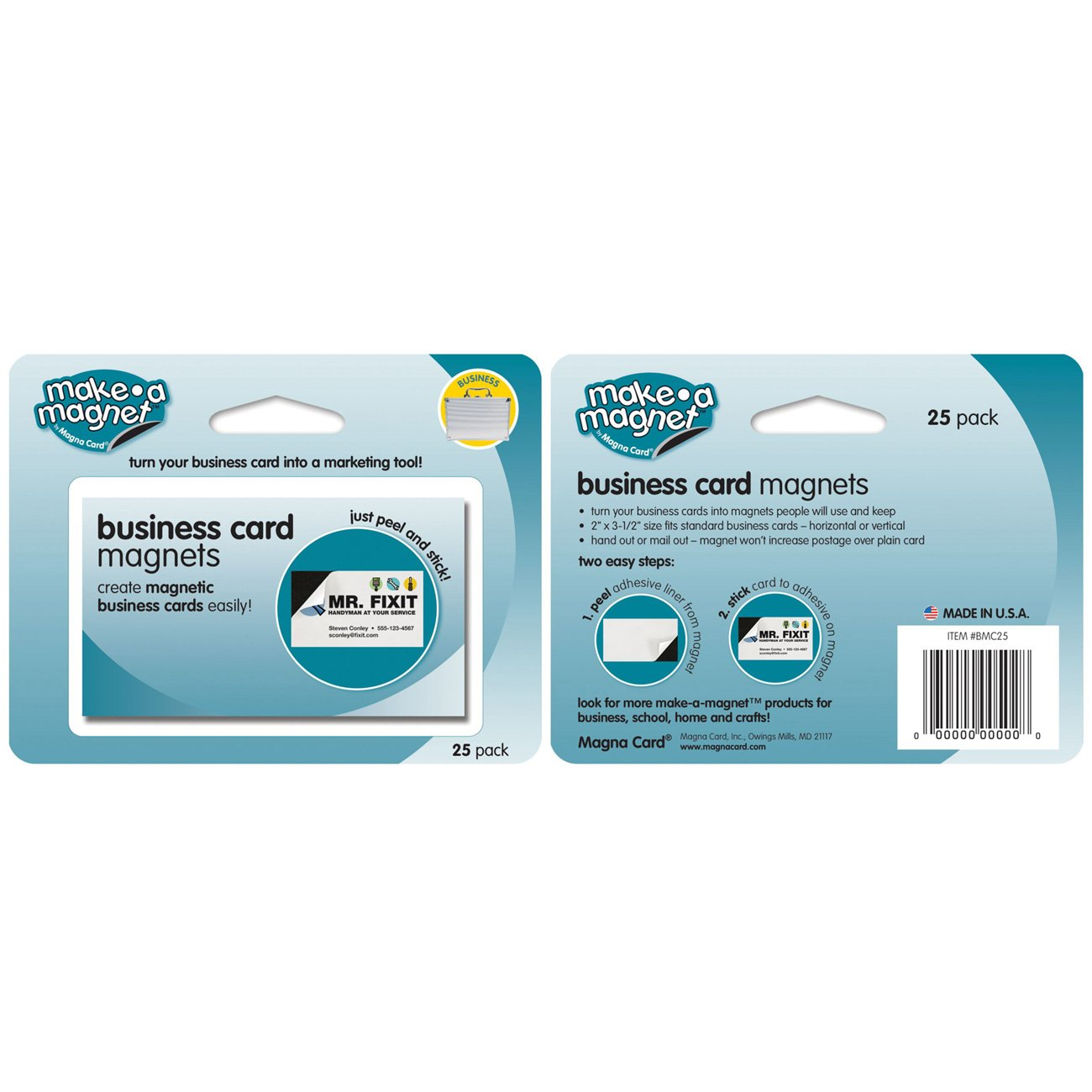 Amazon.com : MagnaCard Standard Peel and Stick Business Card Magnets ...