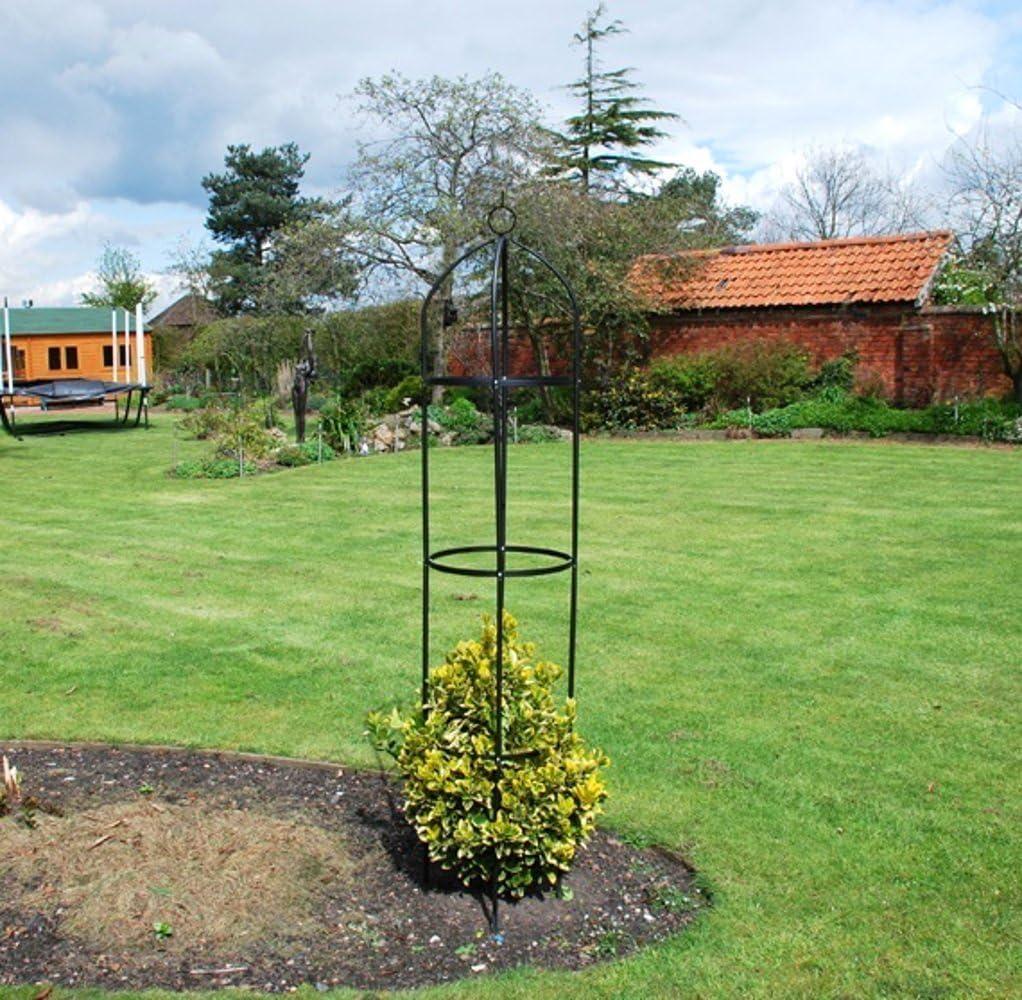 Obelisco de acero de jardín para plantas trepadoras y rosales ...