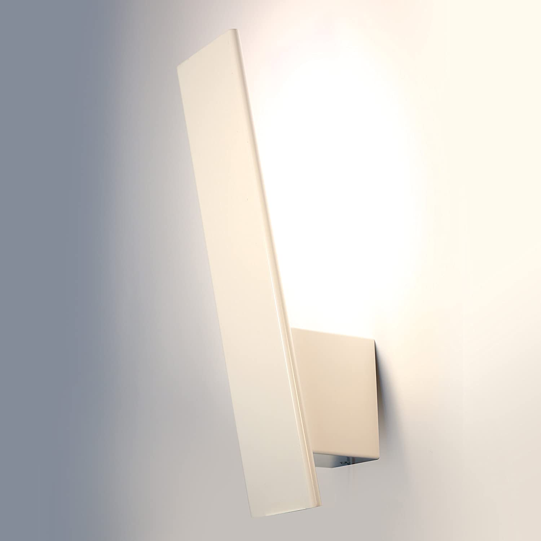 Glighone LED Wall Lights Indoor Modern Wall Lamp for Living Room Bedroom Light Corridor Wall Lights Warm White 9W White GL-0000203
