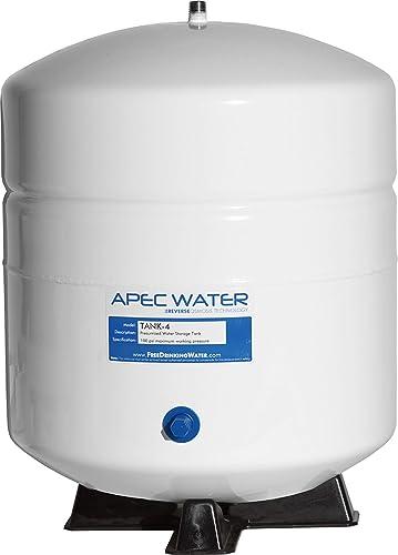 APEC Water Systems TANK-4 4 Gallon Residential Pre-Pressurized Reverse Osmosis Water Storage Tank,White