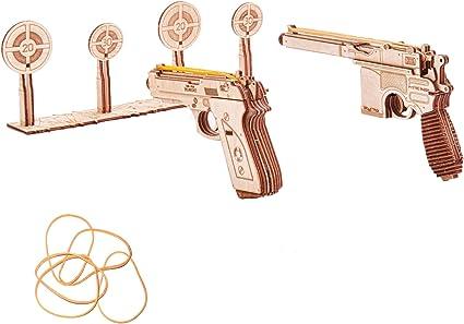 Pequeño Rifle De Juguete De Madera Banda de Goma