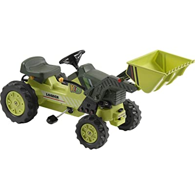 MotoTec KL-50001B Kalee Pedal Tractor with Loader Green: Toys & Games