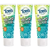 Tom's of Maine Natural Fluoride Wicked Cool! Children's Toothpaste, Natural Toothpaste, Kids Toothpaste, Mild Mint, 5.1 Ounce, 3-Pack