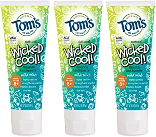 product image for Tom's of Maine Natural Fluoride Wicked Cool! Children's Toothpaste, Mild Mint, 15.3 Ounce