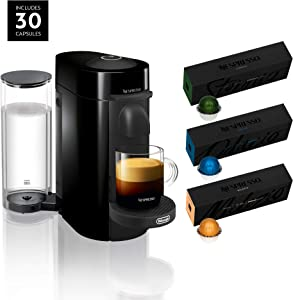 Nespresso VertuoPlus Coffee and Espresso Machine Bundle by De'Longhi with BEST SELLING COFFEES INCLUDED