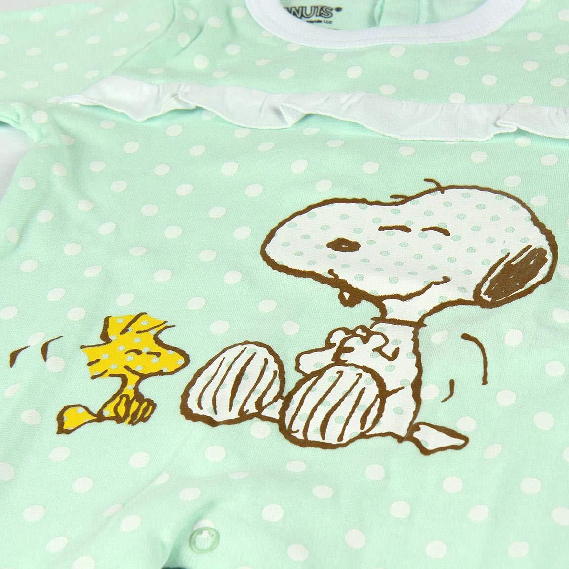 CERDA ARTESANIA Baby Girls Pelele Snoopy Footies
