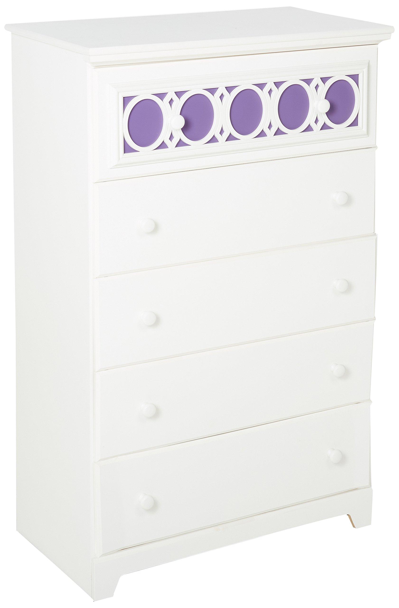 Ashley Furniture Signature Design - Zayley Chest of Drawers - 5 Drawers - Interchangable Panels - Contemporary - White by Signature Design by Ashley (Image #1)