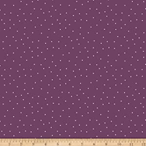 Wilmington Essentials Pindots Eggplant/White Quilt Fabric By The Yard
