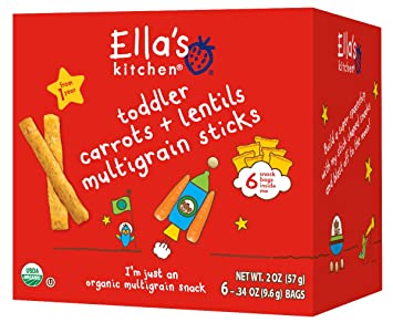 ellas kitchen organic multigrain sticks carrots and lentils - Ellas Kitchen