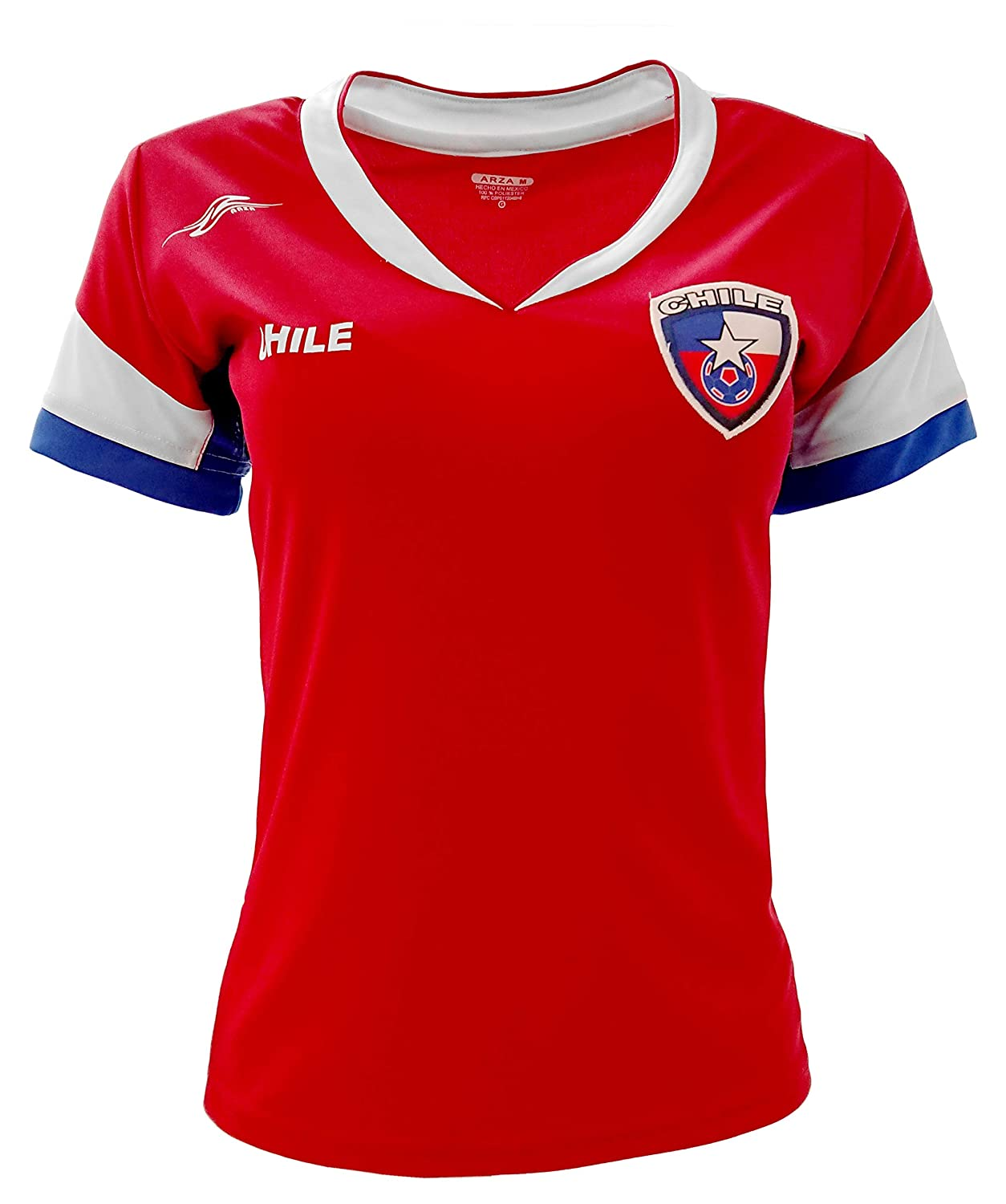 b7f3102be Chile New Arza Women Jersey Red Slim Fit with V Neck 100% Polyester ...