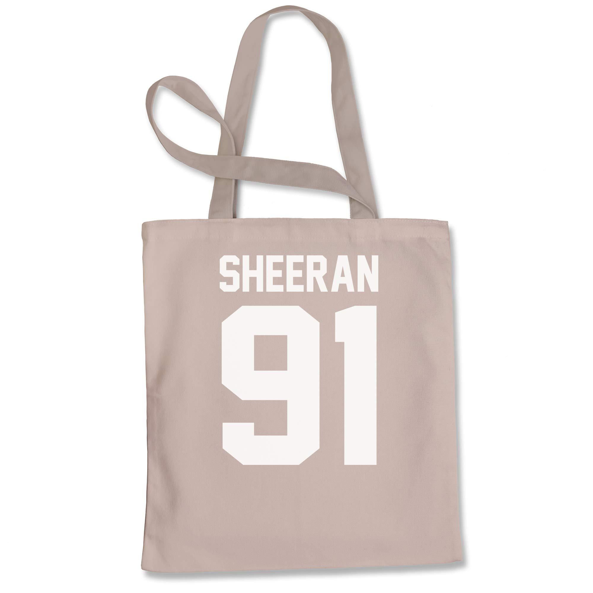 Tote Bag Sheeran 91 Jersey Style Birthday Year Natural Shopping Bag