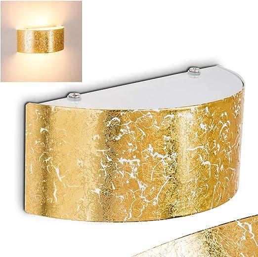 Lampada Da Parete Lesina Applique Design Elegante Moderno Color Oro Luce Led Up Down Ideale Per Salotto Sala Da Pranzo Ingresso Camera Da Letto Amazon It Illuminazione