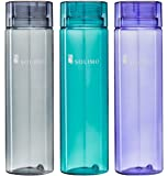 Solimo Water Bottle, 1000 ml, Set of 3 (Grey, Green, Purple)