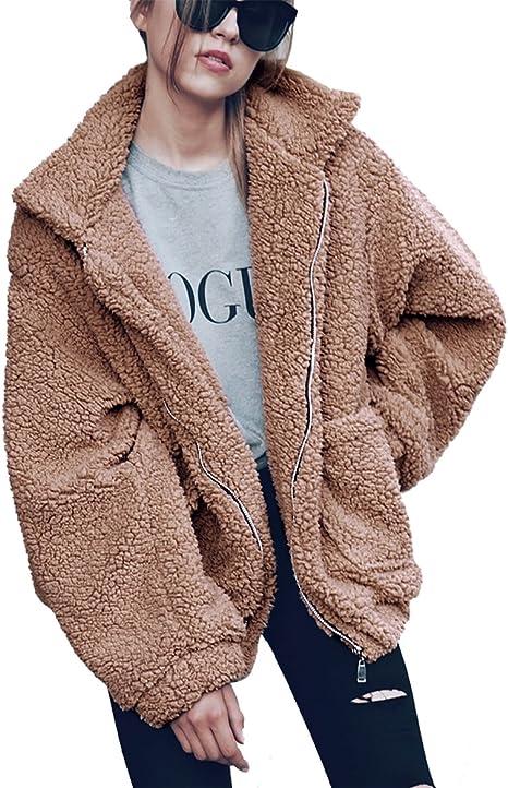 brown warm teddy jacket on sale