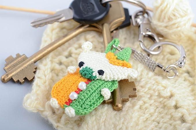 Llavero de peluche juguete con forma de osito amigurumi artesanal multicolor: Amazon.es: Hogar
