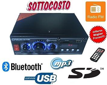 Amplificador USB SD MP3 Bluetooth Radio Play FM 220 V DC 12 V Digital Pantalla New: Amazon.es: Electrónica