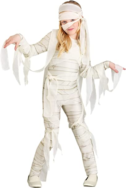 Under Wraps disfraz de momia para niña - Blanco - Small: Amazon.es ...