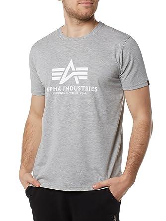 833cd50afc35d7 Alpha Industries Herren T-Shirt Basic  Amazon.de  Auto