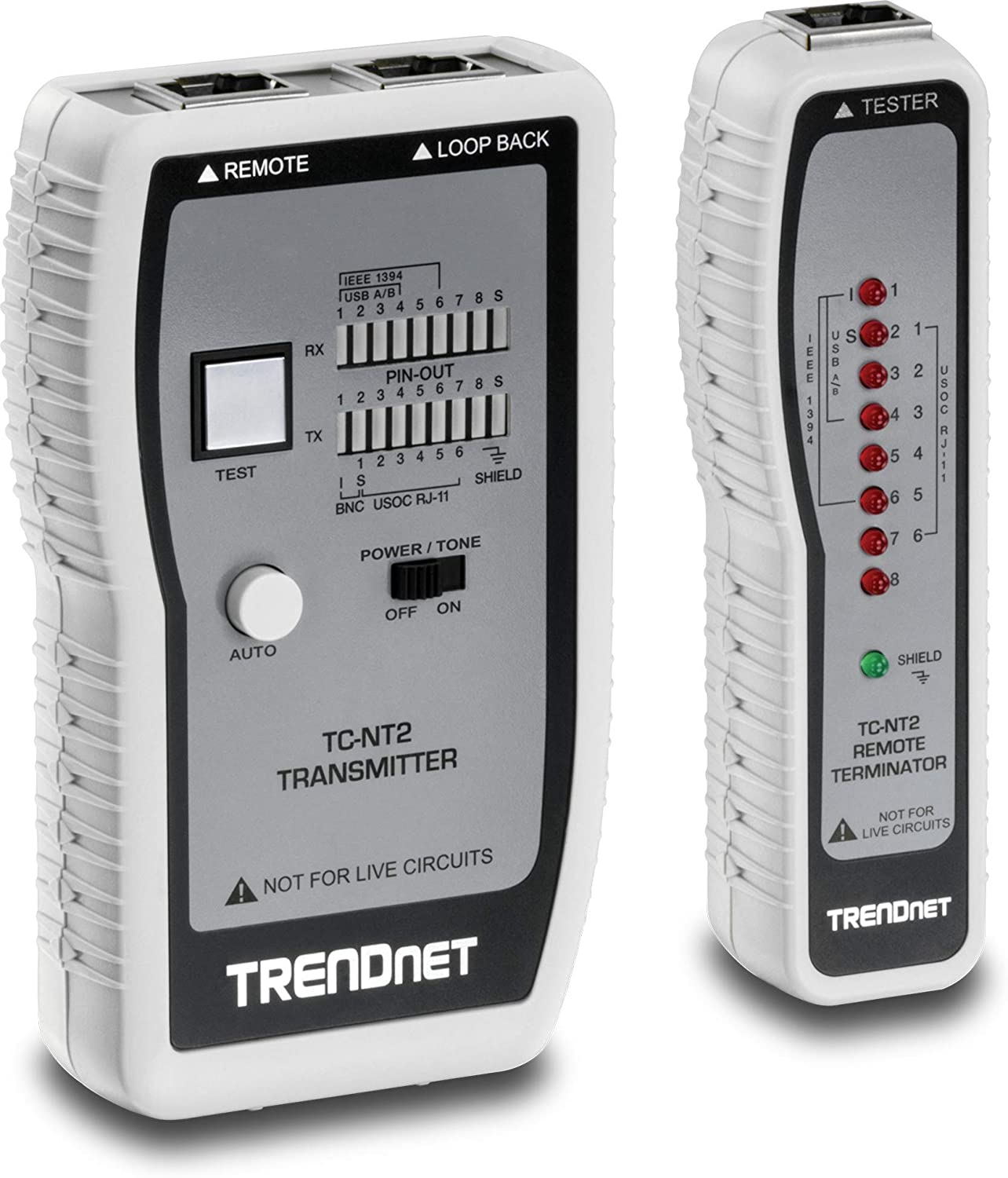 B0000AZK08 TRENDnet Network Cable Tester, Tests Ethernet/USB & BNC Cables, Accurately Test Pin Configurations up to 300M (984 ft), TC-NT2 71yb5VGf92L