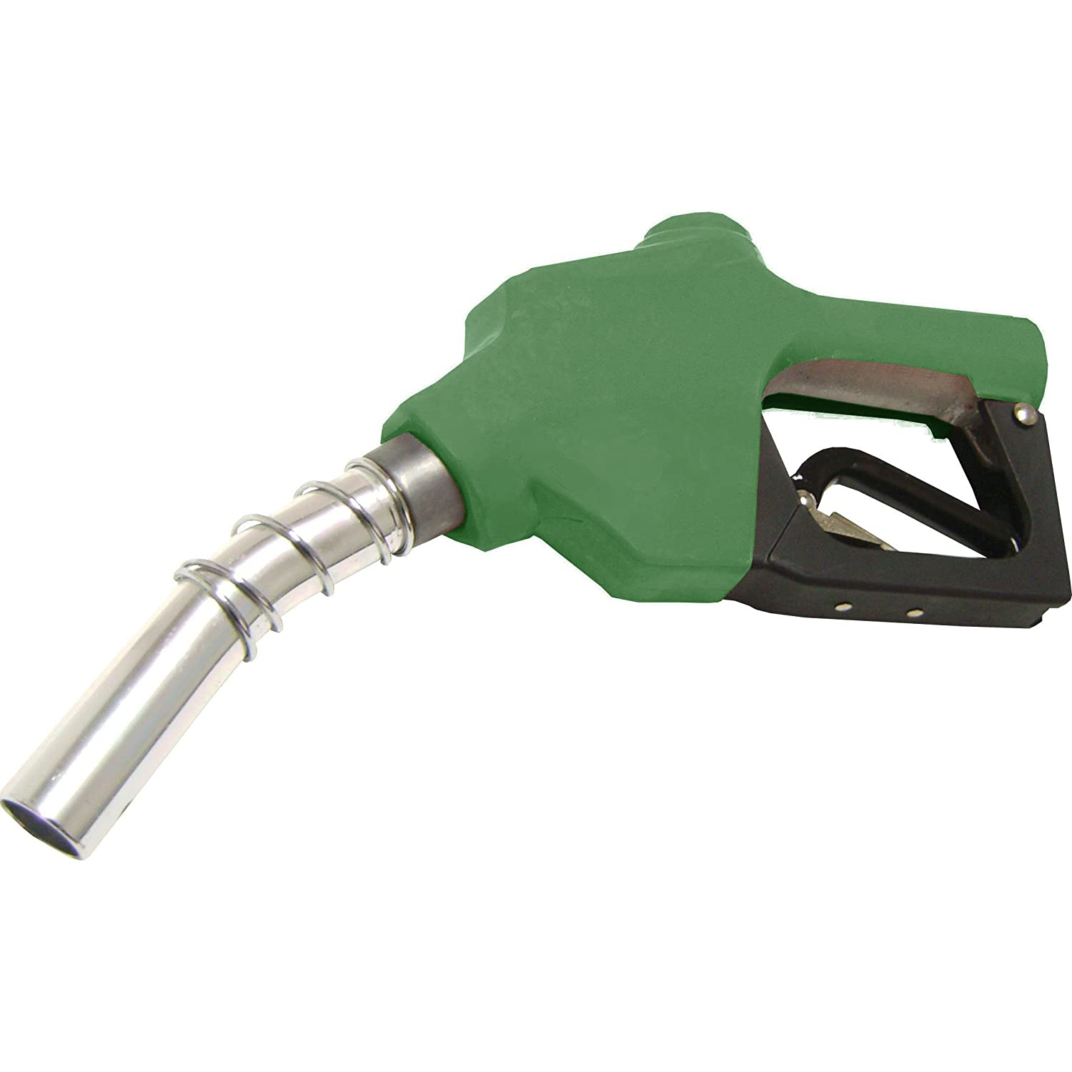 Wolflube automatic fuel nozzle - green - inlet 1in NPT outlet 1in (1. 1/16in) - 26 GPM in aluminum 302901