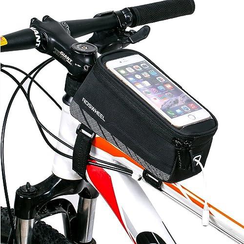 Intsun® Sac de Guidon/Étui/Housse Nouveau Design Portable Sacoche Cyclisme Bicycle Smartphone Bag Écran Tactile 5.7 Pouce pour VTT Vélo de Route Vélo de Ville Vélo Pliant etc Noir 12496