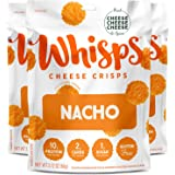 Whisps Nacho Cheese Crisps | Keto Snack, Gluten Free, Sugar Free, Low Carb, High Protein | 2.12oz (3 Pack)