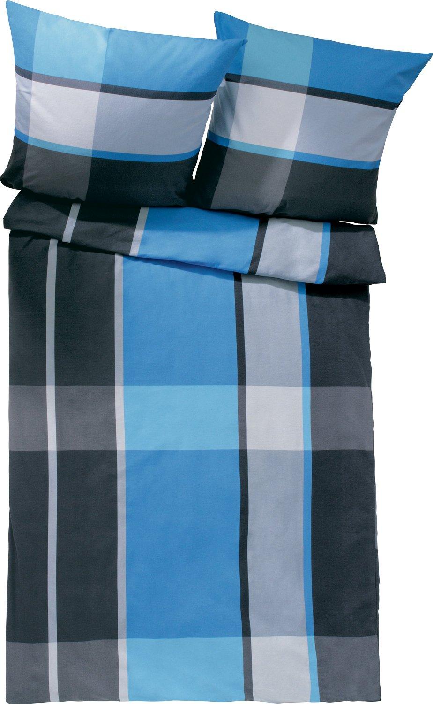 Erwin Müller Bettwäsche Biber blau-graphit Größe 200x220 200x220 Größe cm (2x 80x80 cm) 741f31