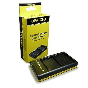 PATONA Cargador de batería doble EN-EL15 para Nikon V1 D7000 D7100 D800 D810 D800E 1 V1 D600 D610 con micro USB