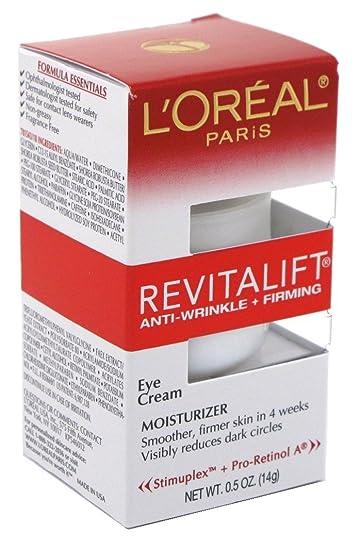 Amazon.com : Loreal Revitalift Eye Cream 0.5 Ounce (14ml ...