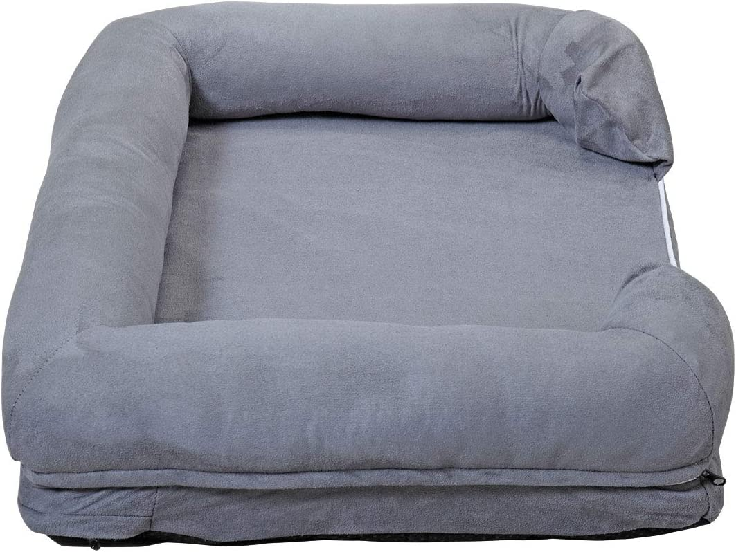 nobrand GMHAHA Pet Dog Bed Lounge Sofa Bed with Memory Foam & Removable Cover for Dogs & Cats Puppy Cushion House (Large 45.5x33.5 inch) : Pet Supplies