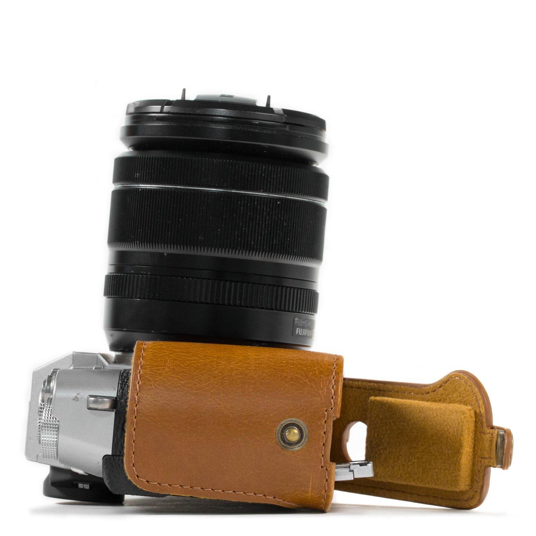 MegaGear Custodia in Ecopelle compatibilie con Fujifilm X-T30 X-T20 16-50mm // 18-55mm Lenses X-T10 Nero