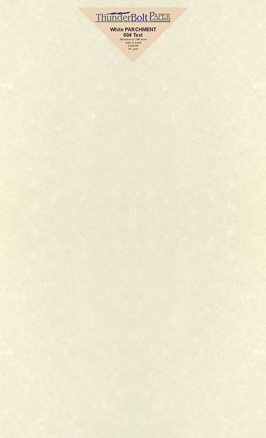 50 Soft White Parchment 60lb Text Weight Paper - 8.5