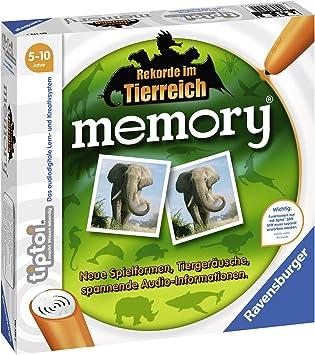 Ravensburger tiptoi memory Juego de mesa de aprendizaje - Juego de tablero (Juego de mesa de aprendizaje, 20 min, 5 año(s), 48 pieza(s), 220 mm, 220 mm) , color/modelo surtido: Amazon.es: Juguetes y juegos
