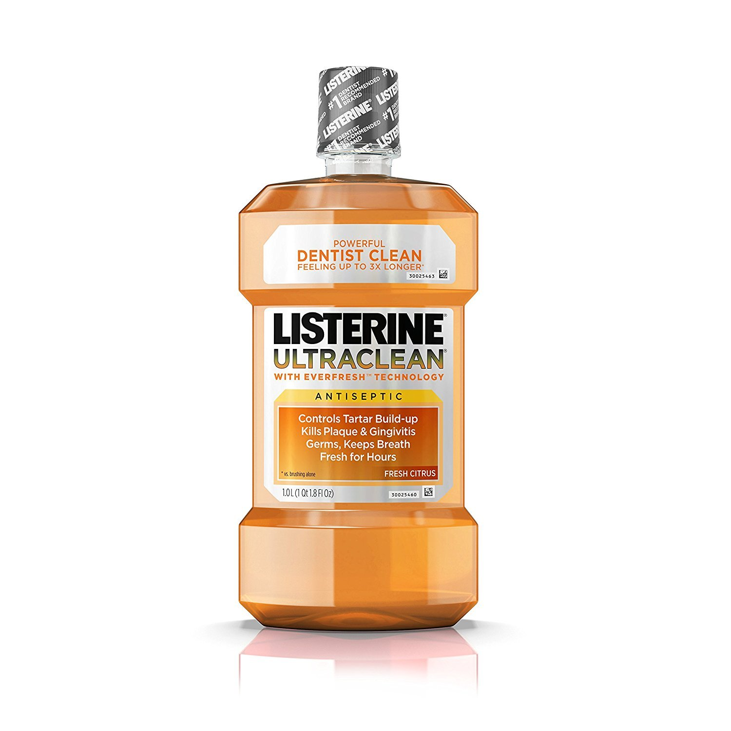 Listerine Ultraclean Fresh Citrus Antiseptic Mouthwash, 1 L - Pack of 5