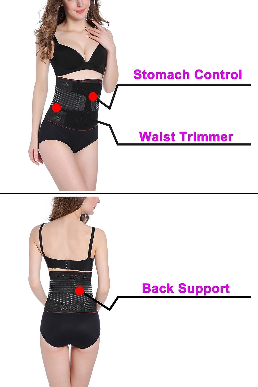cb099eb986ccc Postpartum Bodysuit Full Body Shaper Open-Bust Mid-Thigh Waist Tummy Hip  Control at Amazon Women s Clothing store