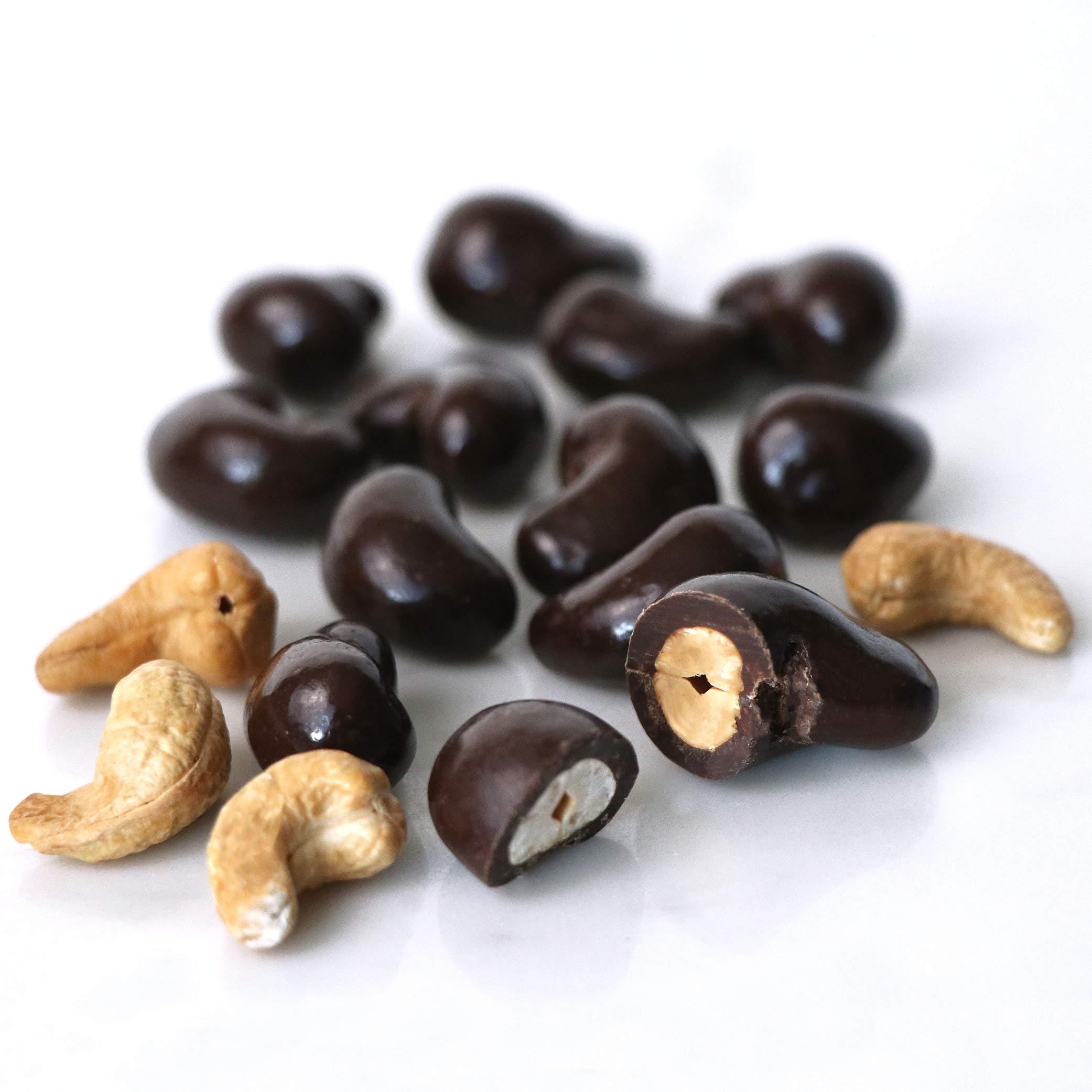 Marich Premium Dark Chocolate Sea Salt Cashews, 2.3-Ounce (Pack of 12) by Marich