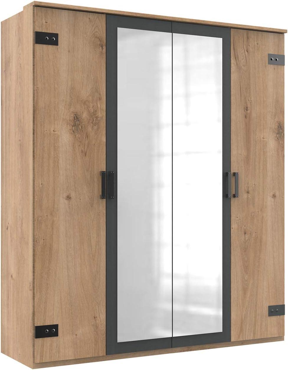 lifestyle4living - Armario ropero con Puertas giratorias (180 cm), Color Gris: Amazon.es: Juguetes y juegos