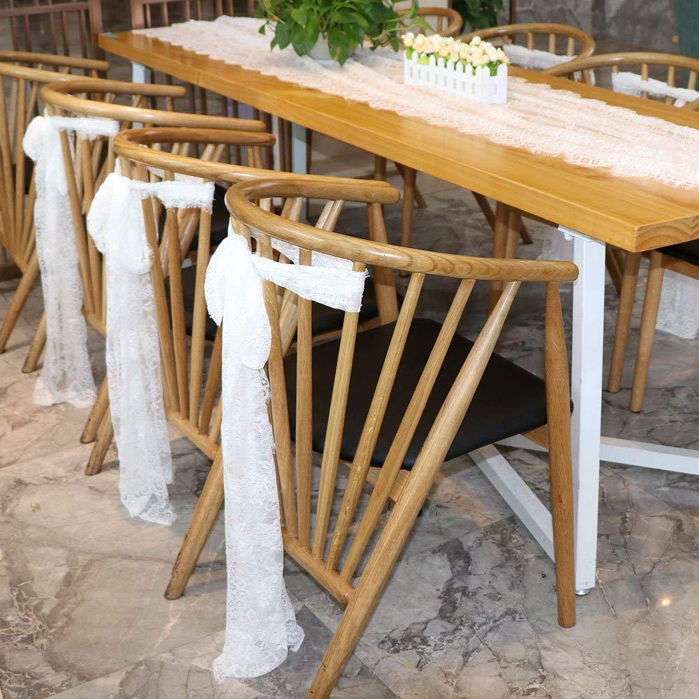 TOOGOO Chemin de Table en Dentelle Blanc Vintage de 14 Pouce x 118 Pouce pour Boho Rustique Mariage Nuptiale D/écorations de Douche Chemin de Table Floral Brod/é Exquis