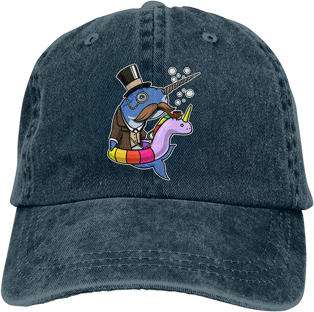 Unisex Funny Unicorn Goldfish Vintage Washed Dad Hat Funny Adjustable Baseball Cap