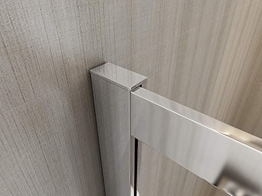 Laneri - Mampara de ducha y plato de ducha de ABS, curva semicircular asimétrica, antical, izquierda, 77,5 x 79-117,5 x 119 cm: Amazon.es: Bricolaje y herramientas