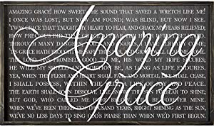 Dicksons Amazing Grace Song Lyrics 32 x 20 Wood Framed Wall Sign Plaque