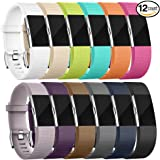 Fitbit charge 2 Bands,12 Pack Accessory Replacement Bands for Fitbit Charge 2 Wristband (Small, Large, Different Color), Special Edition Fitbit Charge 2 Sport Strap Bracelet for Women Men