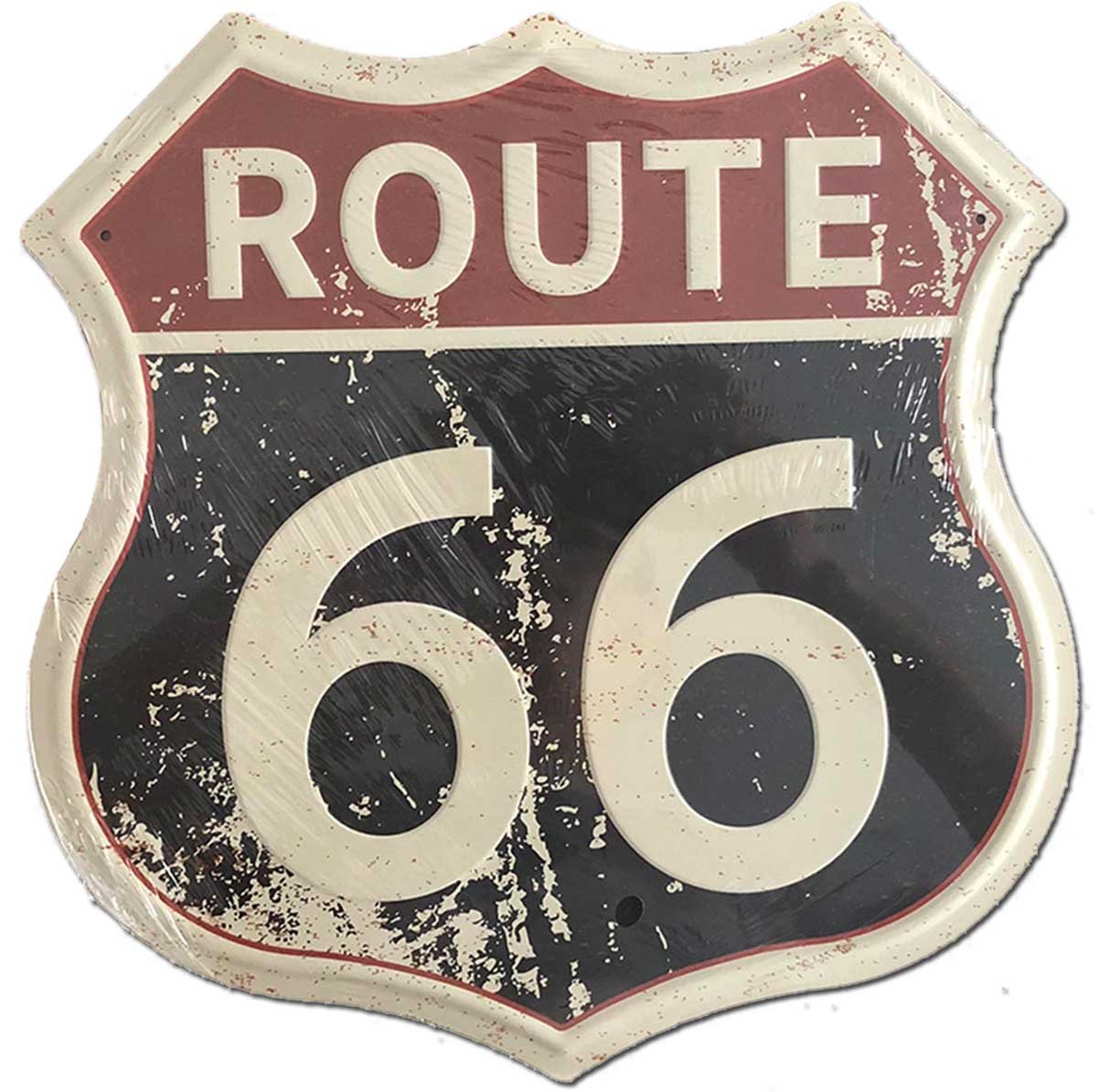 SUDAGEN Route 66 Signs Vintage Road Metal Signs for Garage Home Art Decor 12 x 12 Route 66