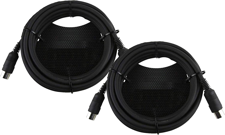 SENOR 케이블 6 피트 미디 케이블 무거운 의무 성형 5 핀 미디 커넥터 내장 스트레인 릴리프-팩 2
